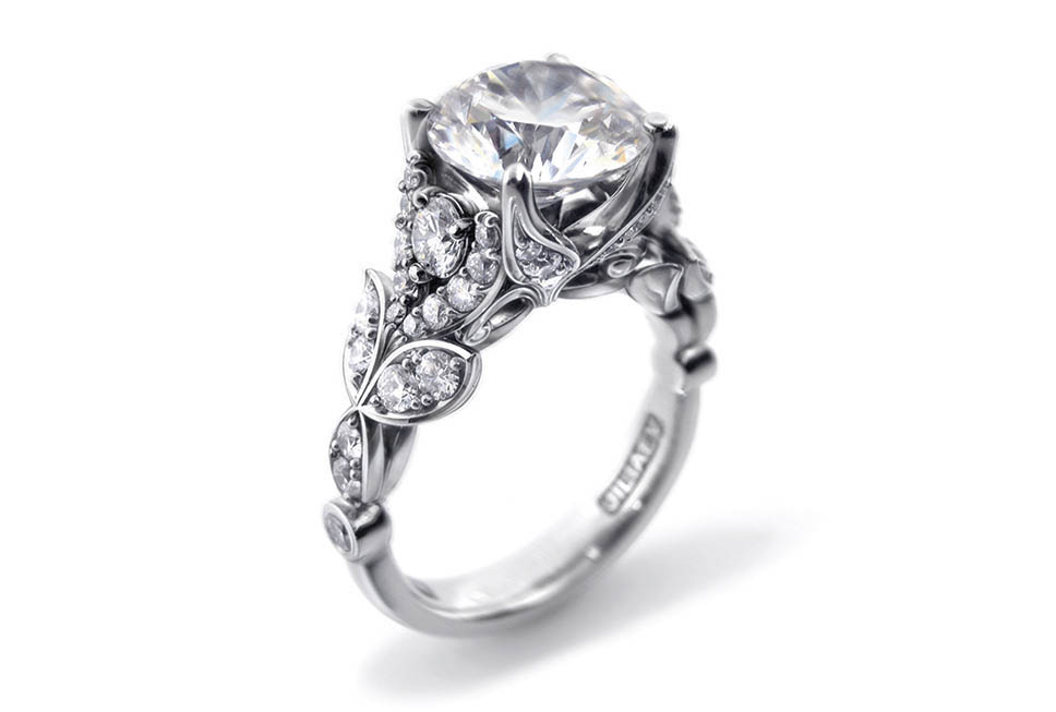 Whale Tale Engagement Ring