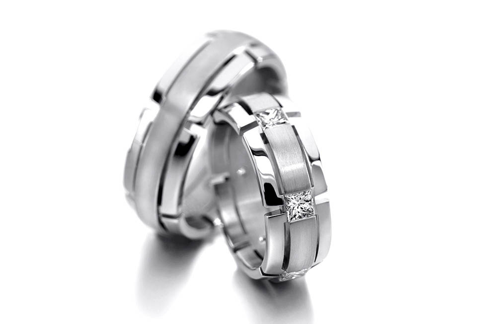 White Gold and Diamond Wedding Bends